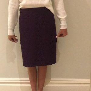 Jcrew purple skirt